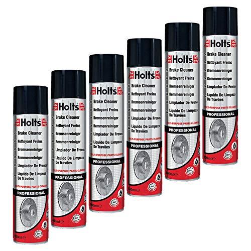 Holts 6X Bremsen-Reiniger-Spray Fahrzeugteilereiniger Teilereiniger Wartung Reinigung Autopflege Spraydose 600 Ml 0131