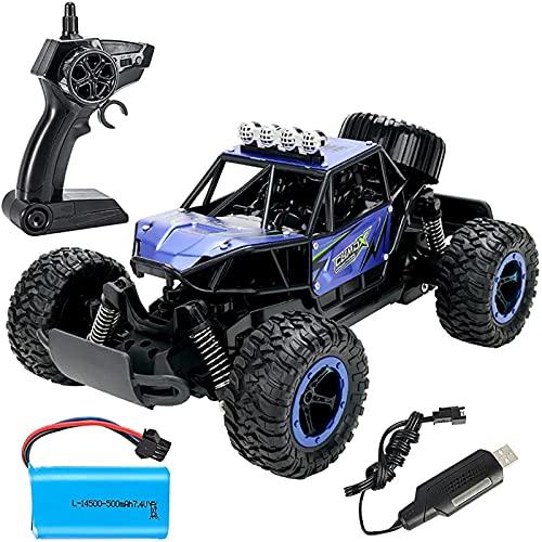 Vehículo de Control Remoto eléctrico de 2.4GHz, camión de Escalada Todo Terreno de Terrain, RWD Aleación RC Coche, Pasatiempo Regalos de Juguete para niños y niñas