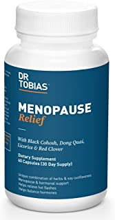 Dr. Tobias Menopause Relief Supplement for Women, 60 Capsules