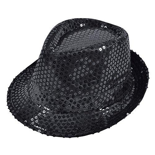 Sequin Fedora. Black