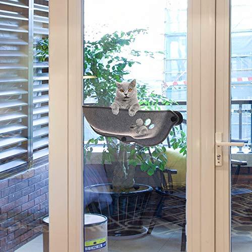 Vingtank Katze Fenster Montiert Bett, Hängematte Haustier Kitty Fensterbank Barsch Hängematte Ruhesitz Liegesofa, Mit 3 Großen Saugnäpfen, 20 Kg Tragkraft,67 × 67 × 25 cm