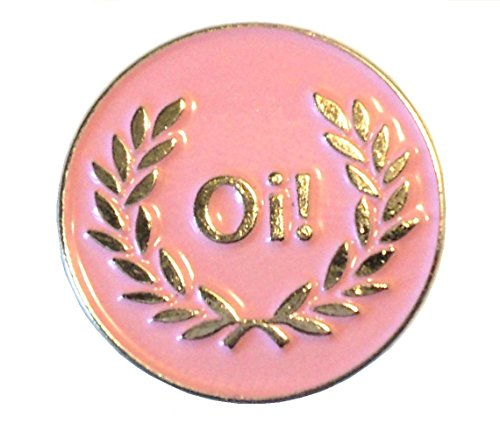 Pink Oi! Laurel Girl MOD Female Scooter Rider Metall Emaille Badge
