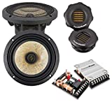 PRECISION POWER: Power Class P.65C3 3-Way Component  6.5-inch Car Audio Sound System 400W Max