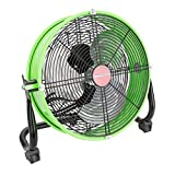 OEMTOOLS OEM24892 12 Inch High-Velocity Tilting Workspace Fan, Tilt Mechanism for Total Airflow Control, Commercial Fan for Shop, Garage, and Warehouse, Green