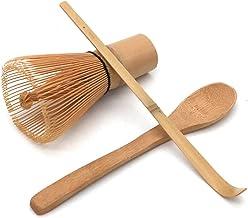POFET Handgemaakte Japanse Thee Ceremonie Set Bamboe Matcha Thee Garde, Thee Scoop en Kleine Thee Lepel 3 STKS/SET