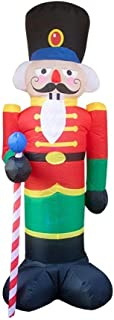 HOBBMS Inflatable Christmas Santa Claus Soldier, 8ft Nutcracker Soldier, Christmas Inflatable Doll, with LED Light Christmas Decoration for Halloween, Outdoor, Birthday Party Outdoor Activities