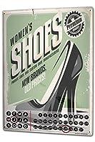 カレンダー Perpetual Calendar Clothes Fashion Shoes Tin Metal Magnetic