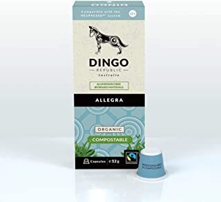 120 Allegra Biodegradable Pods for Nespresso - Organic Fairtrade Coffee in Compostable Capsules