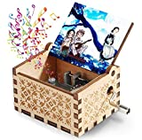 JYPLKCMT The Promised Neverland Gifts for Anime Fans | The Promised Neverland Wooden Hank Crank Music Box | Play Isabella's Lullaby Song