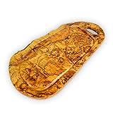 Tabla de cortar Darido - Tabla de cortar de madera de olivo - Tabla de cortar grande - Tabla de cortar resistente - Tabla de quesos - Tabla de servir elegante - Tabla de charcutería hecha a mano