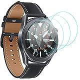 CAVN Protector de pantalla compatible con Samsung Galaxy Watch 3 45mm, 4 unidades, dureza 9H, transparente, antiarañazos, cristal templado para Galaxy Watch 3 45mm