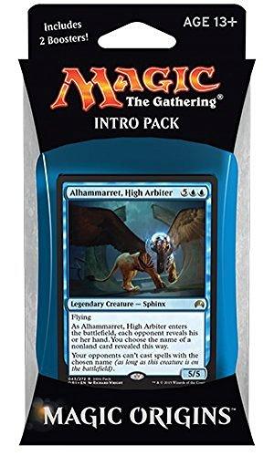 Magic the Gathering: MTG Magic Origins: Intro Pack / Theme Deck: Take to the Sky (includes 2 Booster Packs & Alternate Art Alhammarret, High Arbiter Premium Rare Promo Card) Blue