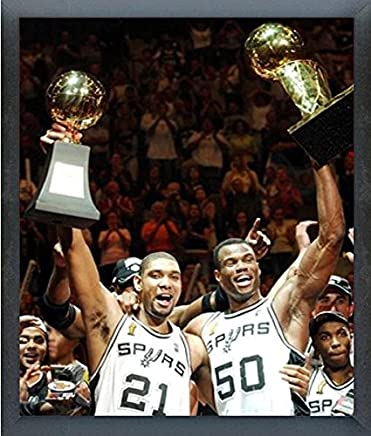 c3e1db229b17e Amazon.com  Tim Duncan   David Robinson San Antonio Spurs NBA Champions  Trophy Photo (Size  17