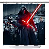 Jenson007 Star Wars Shower Curtain,Darth Vader Anakin Skywalker Imperial Stormtrooper Waterproof Polyester Fabric Shower Curtain for Bathroom, Bathroom Accessories with Hooks, 71X 71 in