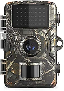Leeofty 16MP 1080P WildlifeTrail and Game Camera Motion Activated Security Camera IP66 Waterproof Outdoor Infrared Night V...