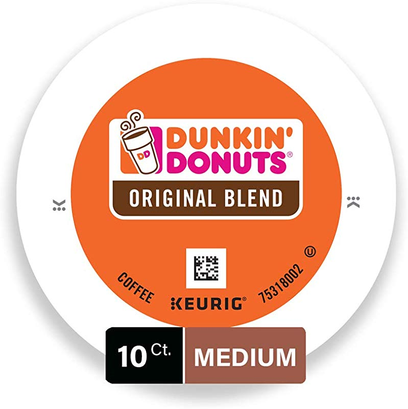 Dunkin Donuts Original Blend Coffee Kcups 10 Count