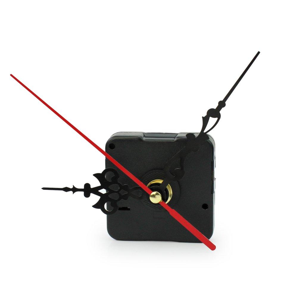 pointeur Rouge Fenteer Mouvement M/écanisme Dhorloge /à Quartz Aiguilles Murale Accessoire Pendule