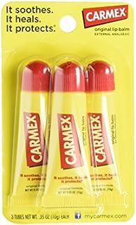Carmex Moisturizing Tube Lip Balm, 0.35 oz - 3 Count