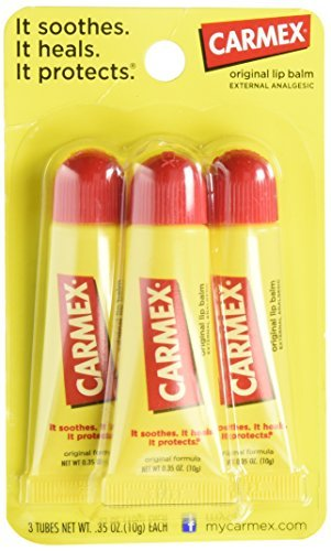 Carmex Lip Balm Moisturizing 0.35oz Tube 3-Pack (3 Pack) by Carmex