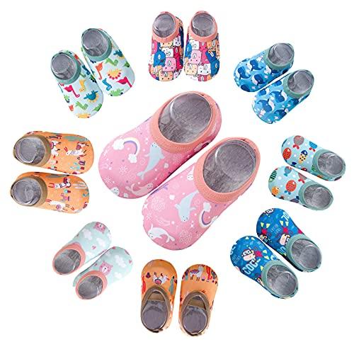 koperras Babyschuhe für Jungen und Mädchen Rutschfest Strandschuhe Drucken Schwimmschuhe Badeschuhe Kinder Anti-Rutsch Sohle Kleinkinder Schuhe Baby Slipper Unisex Barfussschuh