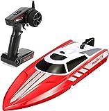 RCTecnic Lancha Radiocontrol RC Vector 28 Super High Speed Pool Racer Volantex 2.4 GHz | Barco Teledirigido Alta Velocidad Para Niños y Adultos