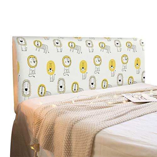 LaoZan All-Inclusive Kopfteil Staubschutz Stretch Stoff Nachtbett Soft Pack Bett Rückenlehnenschutz Waschbar (Stil 40,(50-65)*120cm)