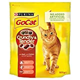 Go Cat Crunchy and Tender Dry Cat Food Beef 800 g - Case of 4 (3.2 kg)