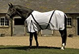 Rhinegold Fly Rug With Neck Cover-6/6-White