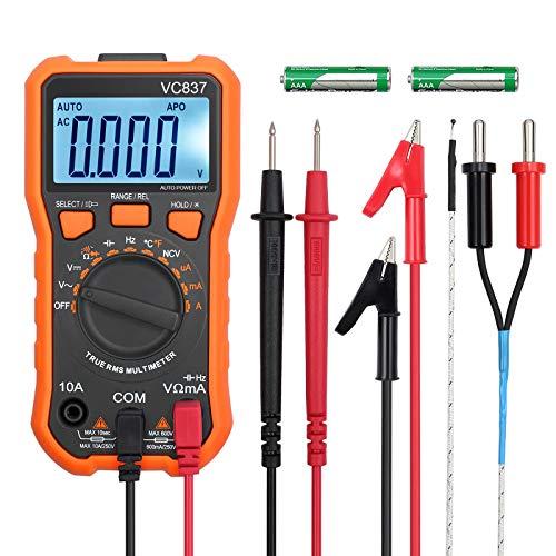 Digital Multimeter 6000 Counts TRMS Voltmeter Amperemeter Ohmmeter von LiNKFOR für NCV DC AC Voltage Strom Widerstände Temperatur Kapazität Diode Frequenz Tastverhältnis Test