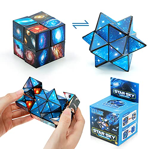 Star Cube Set,2 in 1 Magic Star Cube, 3D Puzzle Cube,Speed Cube,Transforming Cubes Magic Puzzle Cubes for Kids and Adults