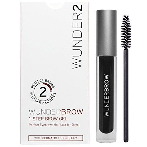 WUNDER2 Wunderbrow lang anhaltendes und wasserfestes Augenbrauengel, Farbe: Jet Black