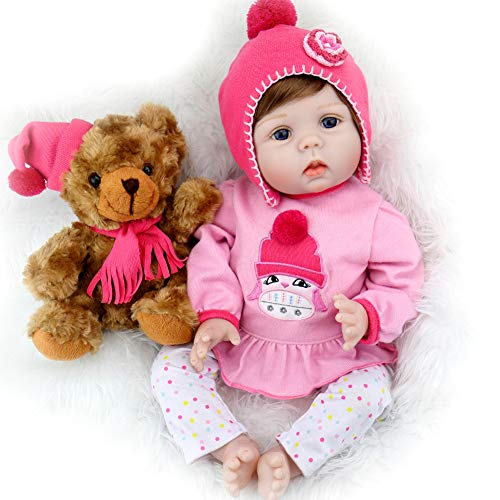 Aori Reborn Baby Doll Lifelike Weighed Reborn Girl Doll 22 Inch with Plush Toy and Accessories Best...