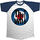 The Who Vintage Target Camiseta, Azul (Blue Blue, White), X-Large para Hombre