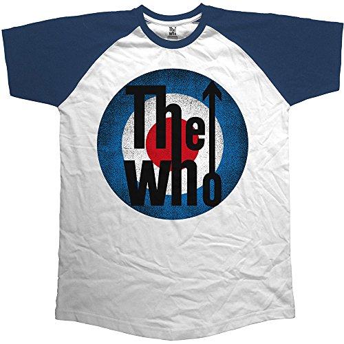 Rockoff Trade The Who Vintage Target Camiseta, Azul, M para Hombre