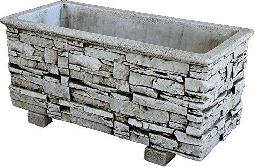 DEGARDEN Jardinera Rectangular Moderna en hormigón para Exterior hormigón-Piedra Exterior 90X41X38cm.