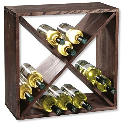 KESPER 69241 Weinregal aus Kiefernholz für 24 Flaschen, 50 x 50 x 25 cm/Weinflaschen-Regalsystem