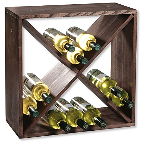 KESPER 3 Compartiment Système d'attaches pour Bouteille de vin, Marron, 50 x 25 x 50 cm