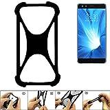 K-S-Trade® Handyhülle Für Nubia Z17 Mini S Schutz Hülle Silikon Bumper Cover Case Silikoncase TPU Softcase Schutzhülle Smartphone Stoßschutz, Schwarz (1x),