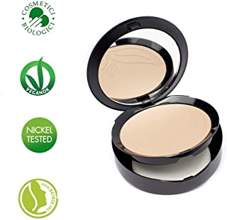 PuroBIO Certified Organic Compact Foundation with Anti-Aging & Mattifying properties, NO 03 -Medium Skin Tones. With Plant Oils, Shea Butter, Vitamins. ORGANIC. VEGAN, NICKEL TESTED. MADE IN ITALY