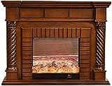 Eingebauter Elektrischer Kamineinsatz Mit Touchscreen-Panel, Realistischer Flammeneffekt, Traditionelles Ofendesign (150 * 33 * 116Cm)