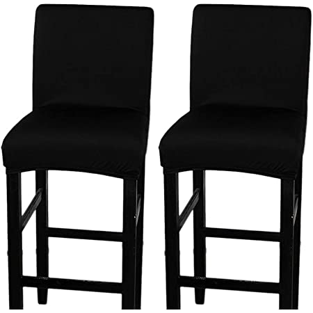 Elastic Chair Cover Slipcovers Protector Decor for Low Short Back Bar Stools
