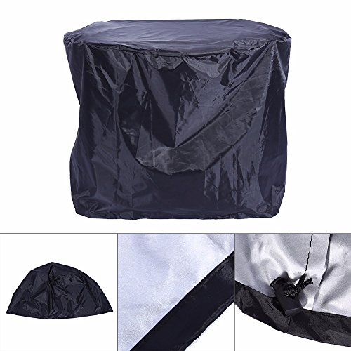 Edumarket241 Black Waterproof BBQ Grill Barbeque Cover Outdoor Rain Grill Barbacoa Anti Dust Protector for Gas Charcoal Electric Barbecue Bag