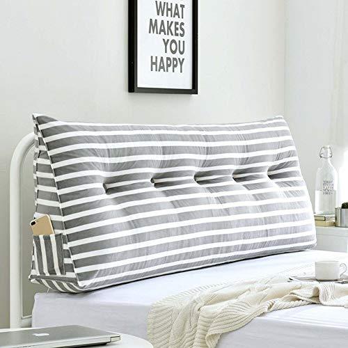 J+N Kopfbrett Sofa-Bett großer dreieckige Keilkissen/Schlafzimmer mit Doppelbett Rückenkissen/Sofa zurück Soft Bag/Leserückenlehne Kopfkissen mit Abnehmbarer Abdeckung, 8 Farben, 8 Größen, Größe: 70