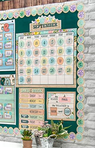 Rustic Bloom Calendar Bulletin Board Set Photo #4
