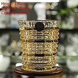 ERTY Czech Boutique Trace Gold Whiskyglas Kristallweinbecher Dose Trinkgläser, NR.5