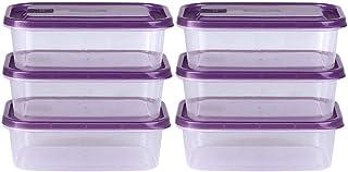 WWJHH-Food storage box BoîTe De Rangement De Cuisine RéCipient De Nourriture - 6 Sets Empilable - MatéRiau éCologique - St...