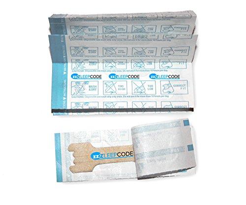 Antischnarch Nasenpflaster Größe M 30 Stück gegen Schnarchen. Alternative zu Nasenspreizern, Nasenspray, Nasendilatatoren, Kinnband, Nasenklammern und Schnarchschienen