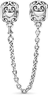 MiniJewelry Charm Stopper Lock Charm Bracelets Safety Chain Secure Beads CZ Crystal