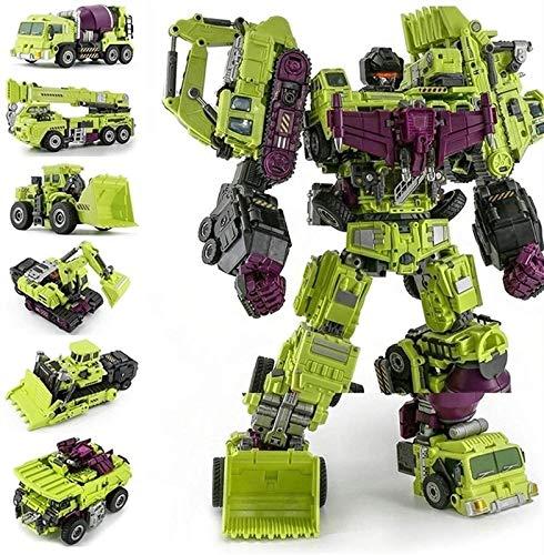 Optimus Prime Spielzeug Transformers Engineering Devastator Green Combiner 6 en 1 aleación de juguetes de metal Figura de acción Camión de automóviles Cargador de cochecillo Modelo Regalo para niños M