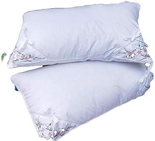 LHLHM Almohada Algodón Lavanda Pluma Terciopelo Almohada Hotel Cómoda Almohada Relajante Almohada para Dormir